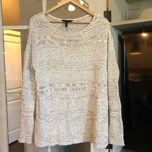 BCBG Knit Sweater Tunic Blouse